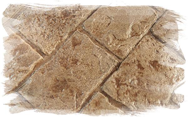 Mayan Cobblestone Stamp Concrete Pattern